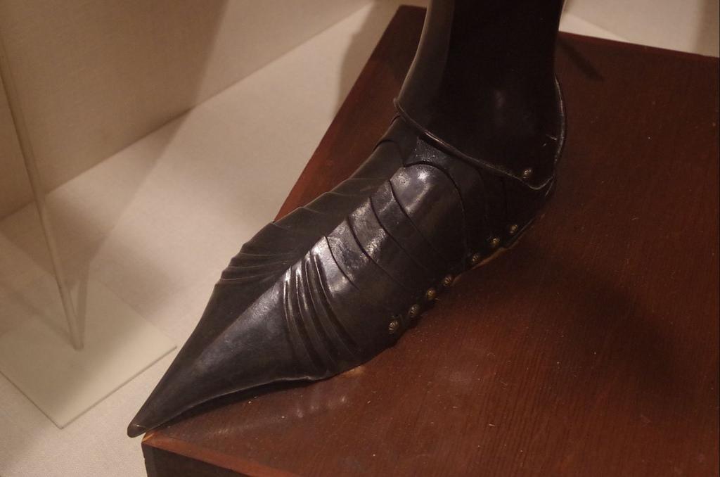feet of medieval armor
