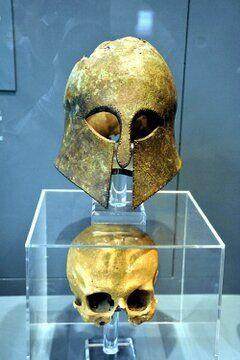 Corinthian helmet from the Battle of Marathon