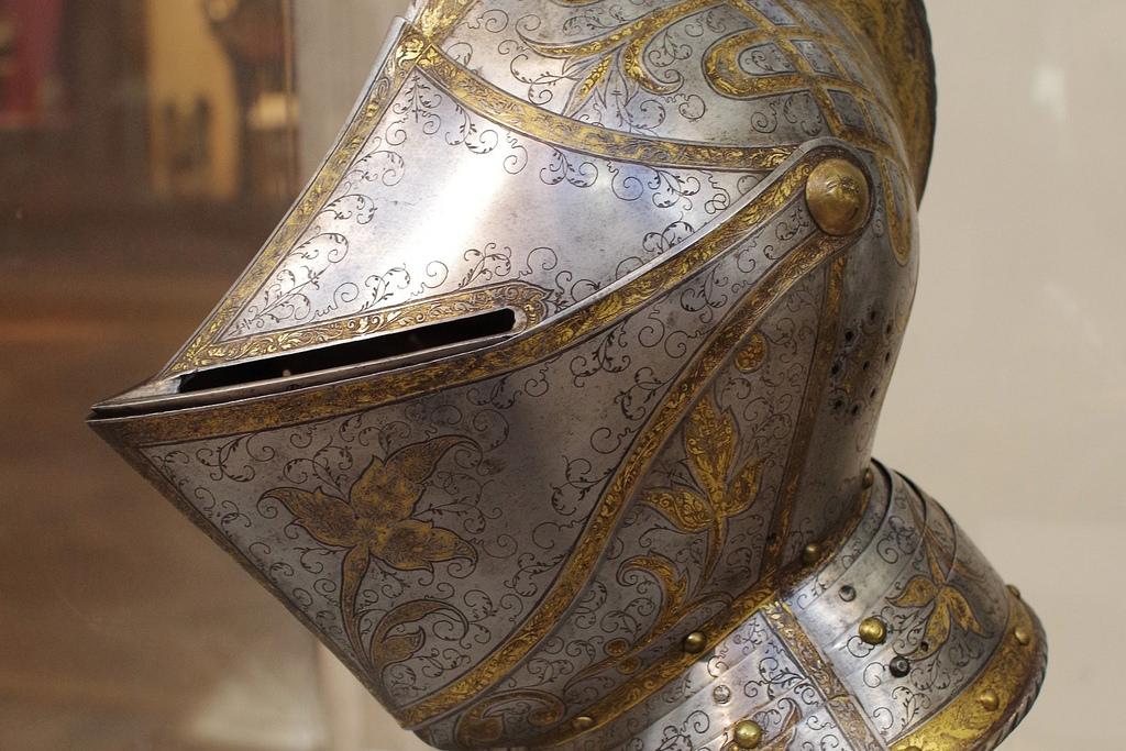 Detail of Close Helmet of Ferrente Francesco