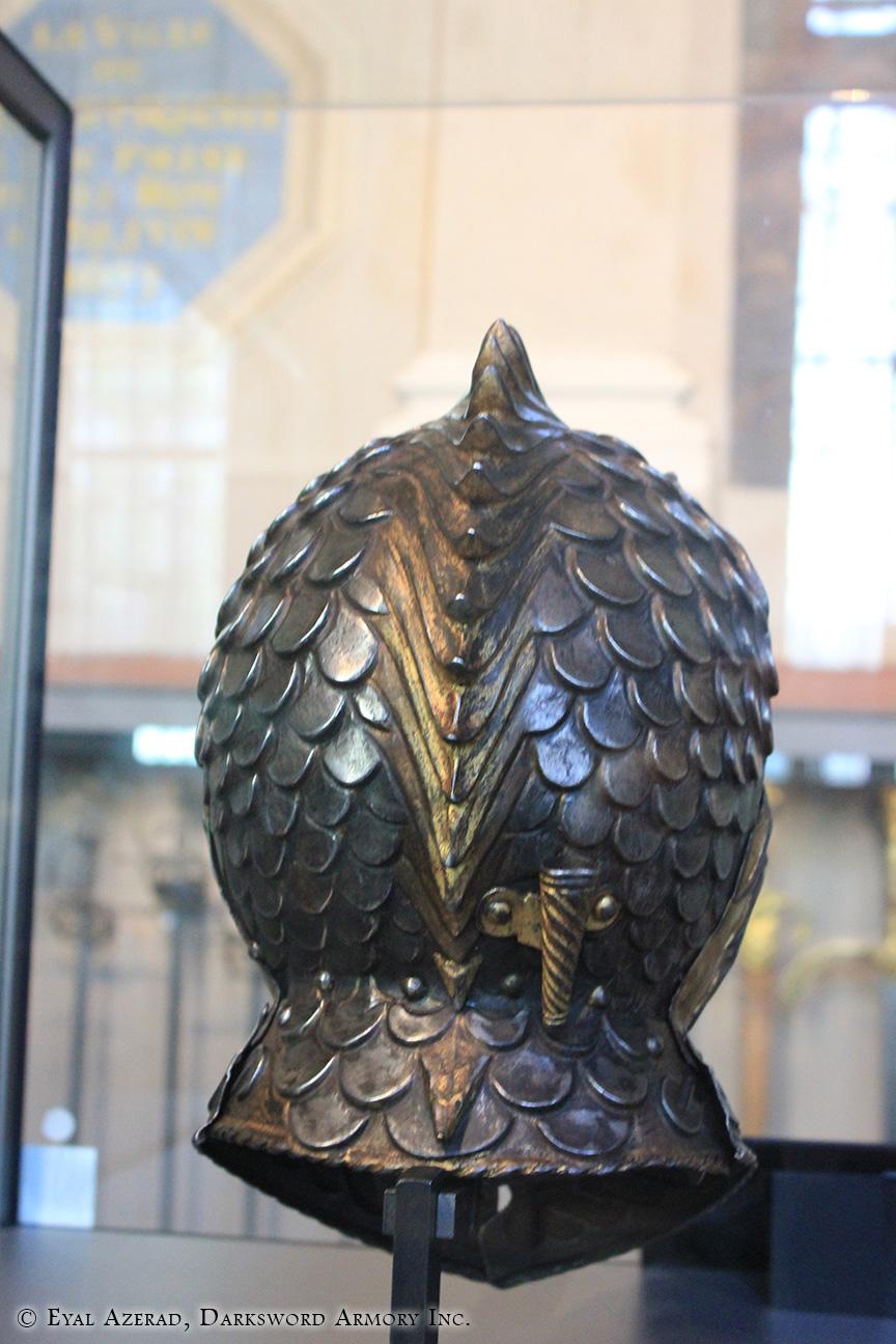 medieval armor Scales helmet