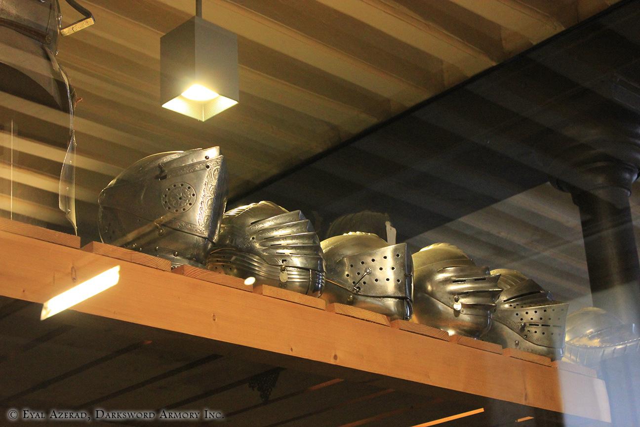 medieval armor helmets