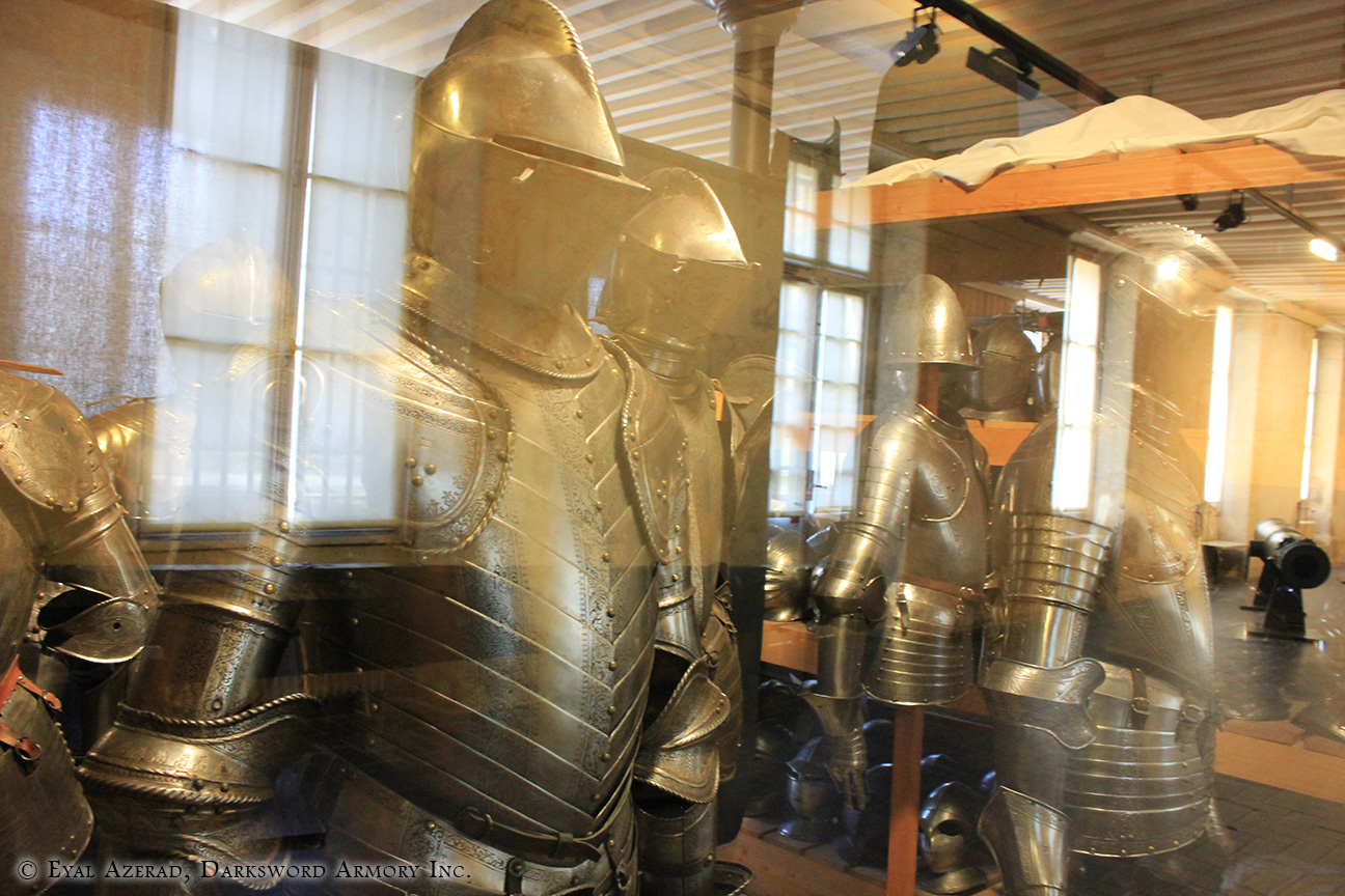 different medieval armor upper body