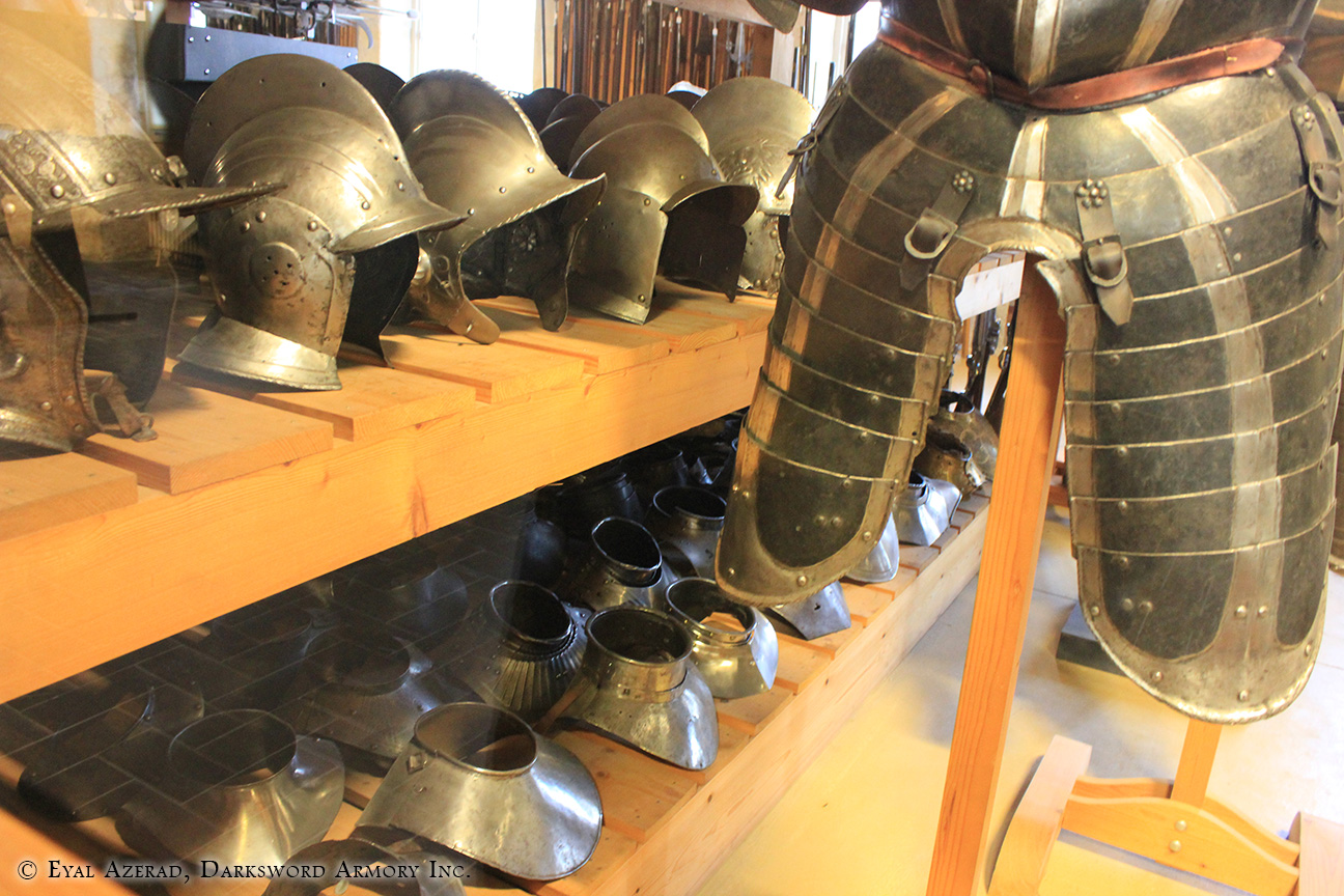 different armor helmets