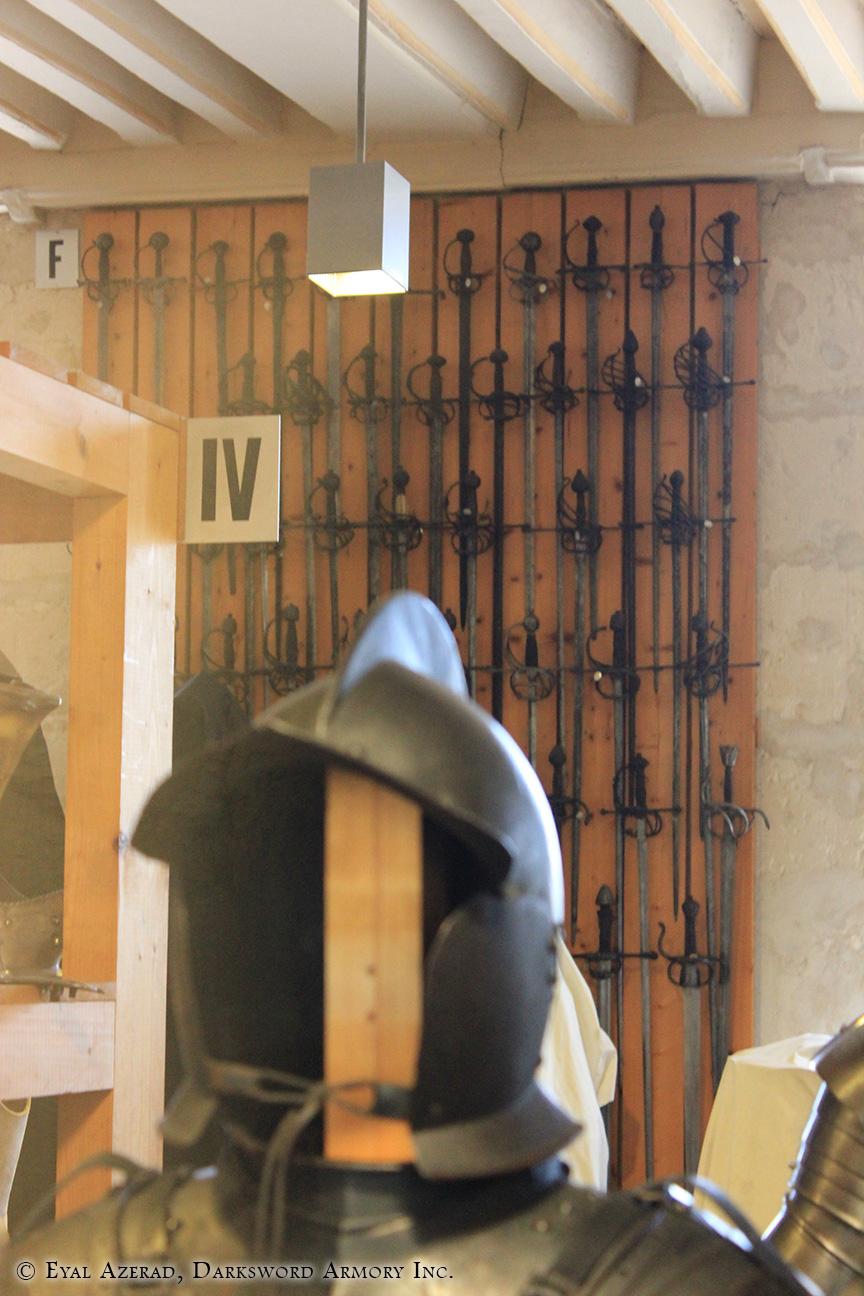 full line medieval helmets