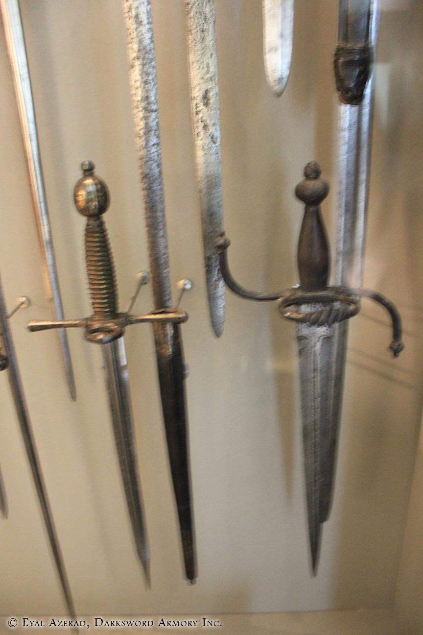 medieval training swords display