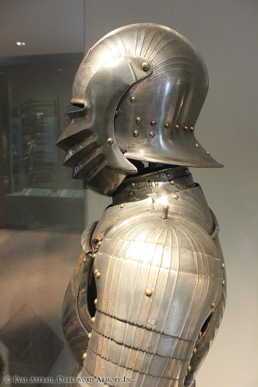 battle helmet and armor