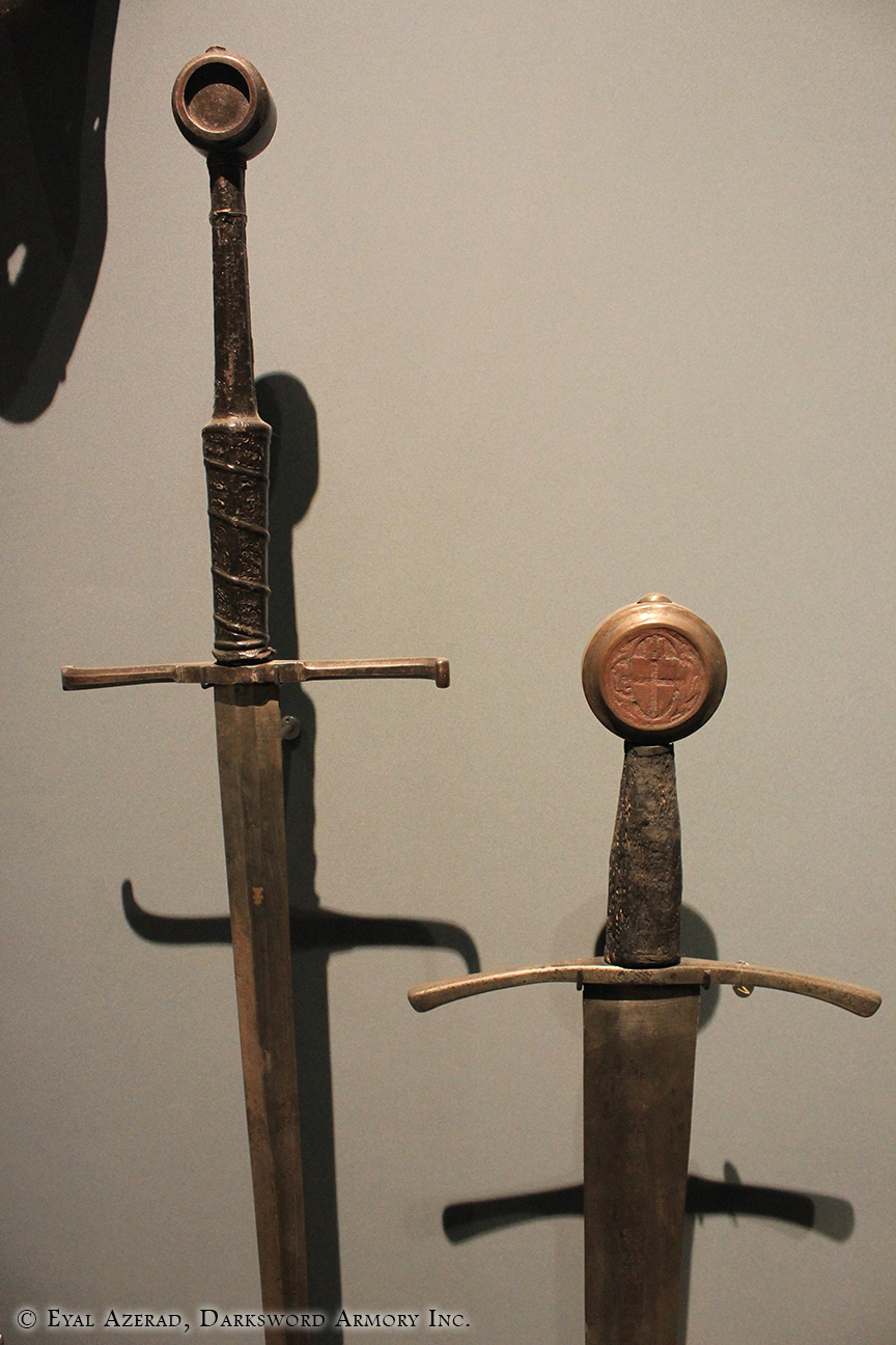 2 Medieval Swords Armor