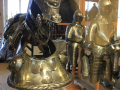 statue and armor