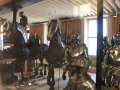 armor horses and statue