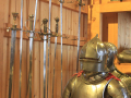 medieval knight with swords