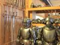 medieval knights with full body armor
