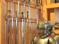 knight helmet and Swords