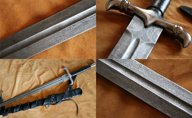 Damascus Steel Sword uk Made Damascus Steel Swords