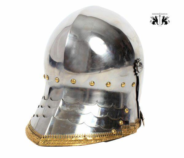 1725-German-Sallet-medieval-helmet-2