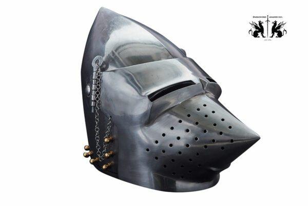 pigface-bascinet-1736-medieval-armor-helmet-front