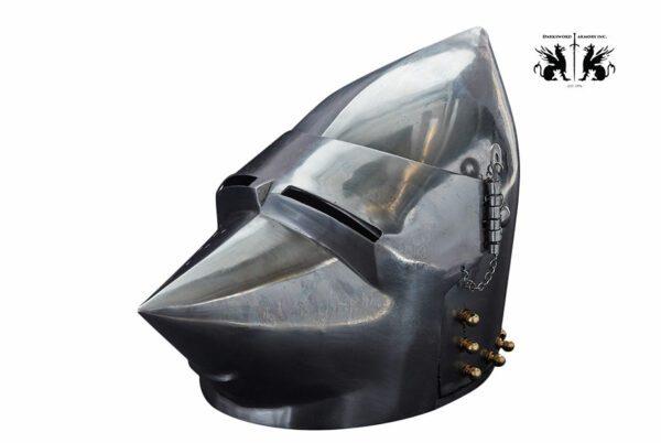 pigface-bascinet-1736-medieval-armor-helmet-side