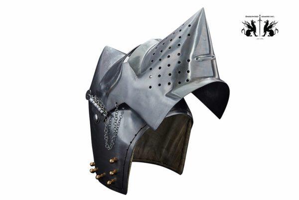 pigface-bascinet-1736-medieval-armor-helmet-up