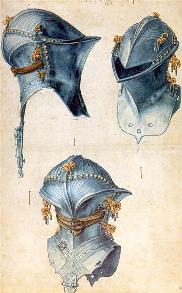 three-studies-of-a-helmet