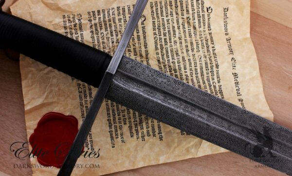 two-handed-templar-damascus-sword-certificate
