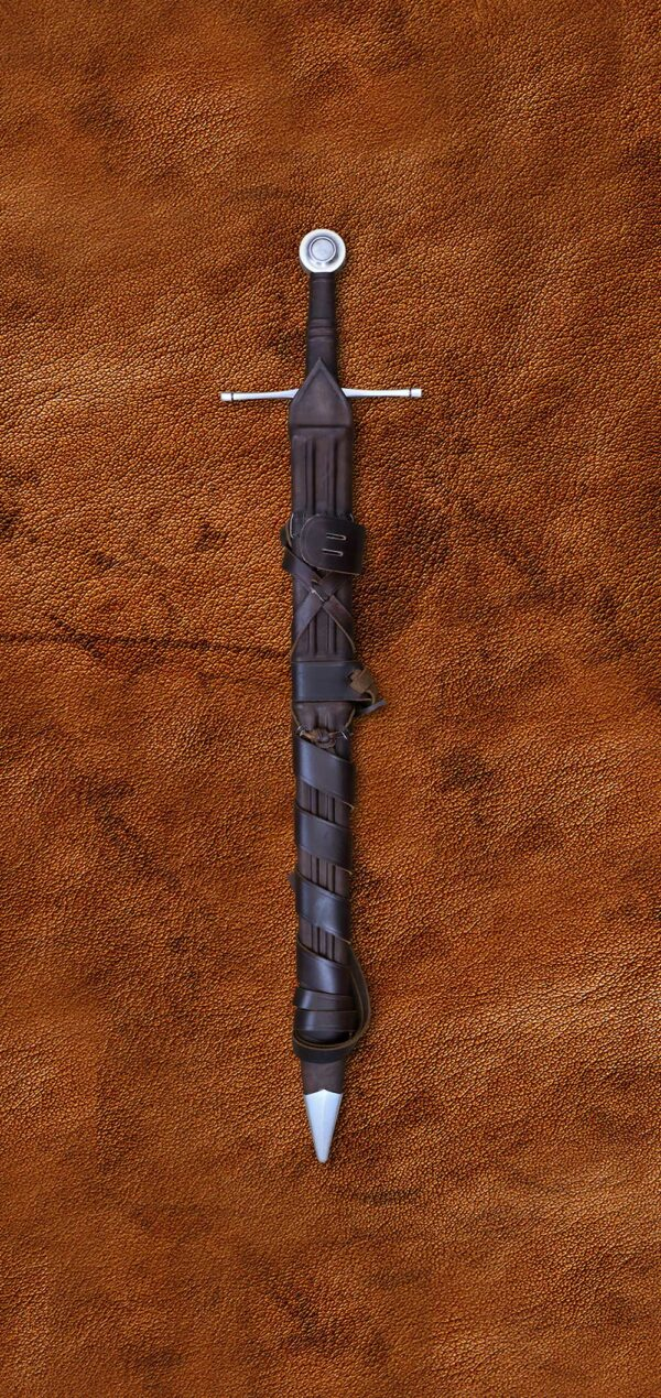 norman-sword-medieval-weapon-1307-battle-ready-fully-functional-real-swrod-darksword-armory-in-scabbard