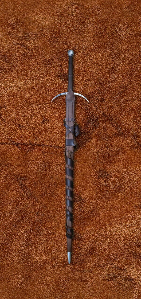 two-handed-danish-sword-medieval-weapon-1352-in-scabbard