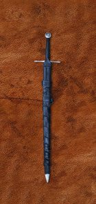 two-handed-norman-medieval-sword-1336-medieval-weapon-in-scabbard-belt