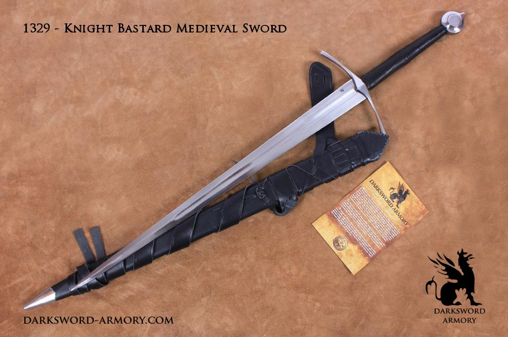 Real Medieval Swords Knight Bastard Medieval Sword