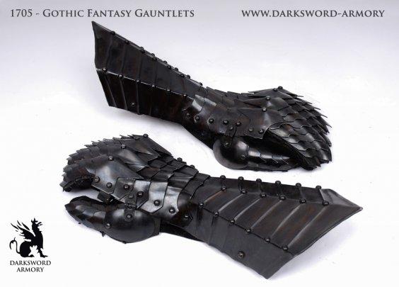 Gothic Fantasy Gauntlets (#1705)