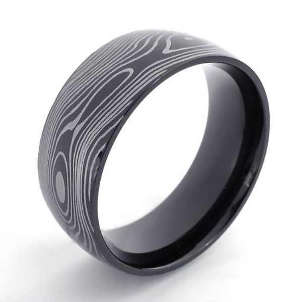Damascus Pattern Ring (4007)