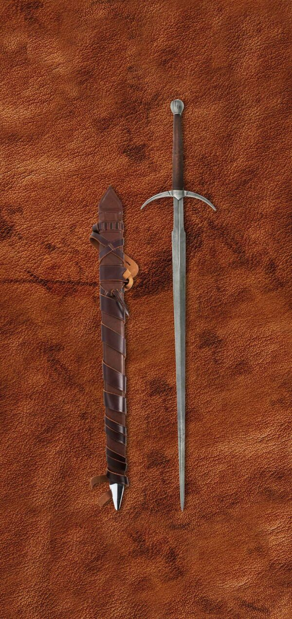 damascus-two-handed-danish-sword-1607-scabbard