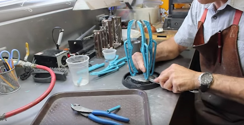 lost wax process for wolfsbane sword guard