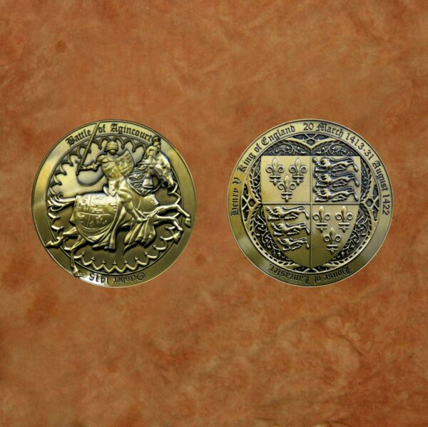 polished-gold-battle-of-agincourt---henry-v-medieval-collectible-battle-coin-