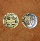 satin-gold-battle-of-agincourt—henry-v-medieval-collectible-battle-coin-
