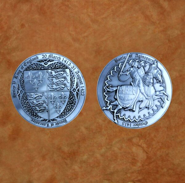 satin-silver-battle-of-agincourt---henry-v-medieval-collectible-battle-coin