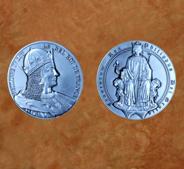 satin-silver-phillip-iv-of-king-of-france-medieval-collectible-coin