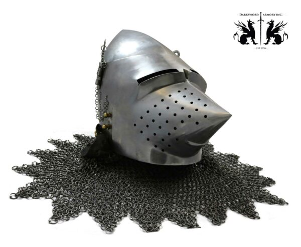 wallace-pig-face-basinet-1748-medieval-armor-mild-steel