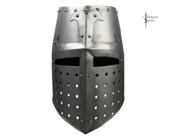 12th-c.-great-helm-2012-medieval-armor-helmet-herald-series-front