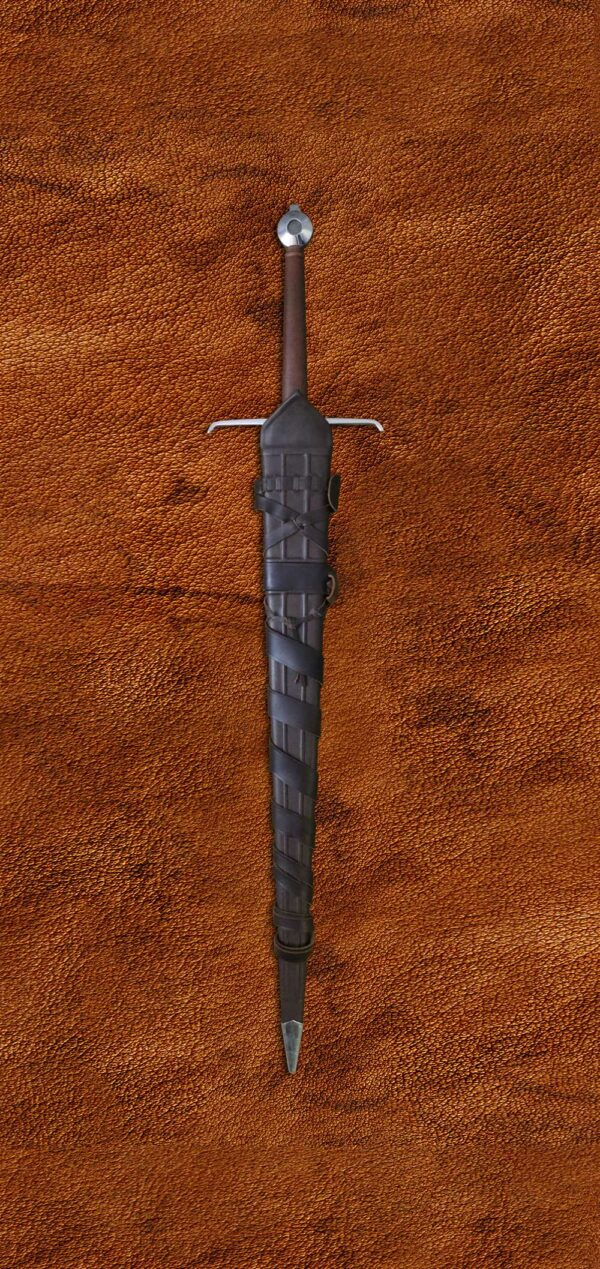 alexandria-sword-medieval-weapon-1525-darksword-armory--in-scabbard